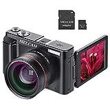 Digital Camera Video Camcorder, Full HD 1080P 24.0MP MELCAM YouTube Vlogging Camera