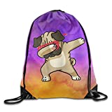 BVILL Hip Hop Dab Pug Drawstring Shoulder Bag Backpack Tote Sports Bag