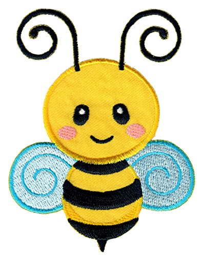 Embroidered Applique Onesie - PatchMommy Iron On Patch, Bee - Appliques for Kids Children