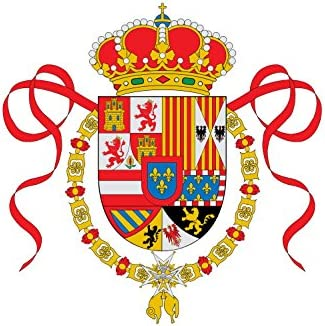 magFlags Bandera Large Pabellón de la Armada de España instaurada por Felipe V en 1701 y Que estuvo en Vigor hasta 1760. También fue el Distintivo del Escuadrón de CÁ: Amazon.es: Jardín
