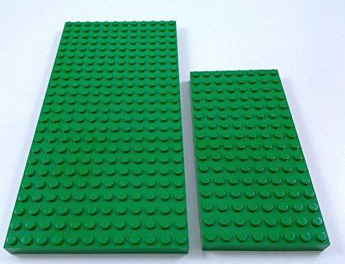 Lego lot 2 SIZES THICK GREEN BASEPLATES Raised 12x24 dots/studs 3 1/2
