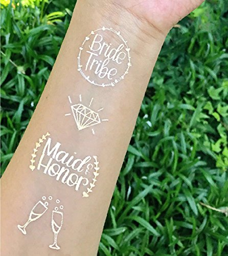 Lettered By Adeline Bachelorette Party Bride Tribe Tattoos + Matron and Maid of Honor Designs - Over 45 pieces - Bridal Shower and Favor Decorations]()