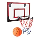 Over the Door Mini Basketball Game Set - With Breakaway Spring Rim!