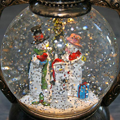 Vintage Christmas Snow Globes.Qilichz Decorative Antique Christmas Snow Globe Lantern Snowmen Scenic Lighted With Water Swirls Glitters Battery Operated Light For Christmas Home