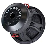 Massive Audio HippoXL152-15 Inch Car Audio 4,000 Watt HippoXL Series Competition Subwoofer, Dual 2 Ohm, 3 Inch V.C | Sold Individually