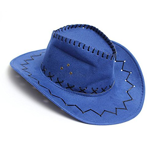 9f87b820dc8 Image Unavailable. Image not available for. Color  Cowboy Cowgirl hat -  TOOGOO(R) Retro Unisex Denim Wild West Cowboy Cowgirl Rodeo