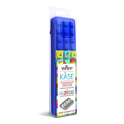 Amazon.com: WAFF Kase Pencil Case with Cubes - Navy: Arts ...