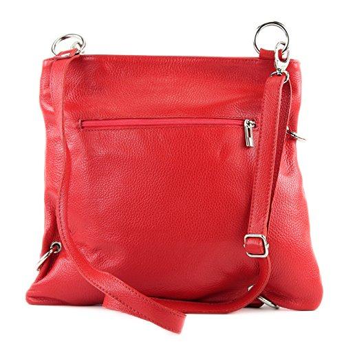 modamoda de - Made in Italy - Bolso cruzados para mujer Rojo