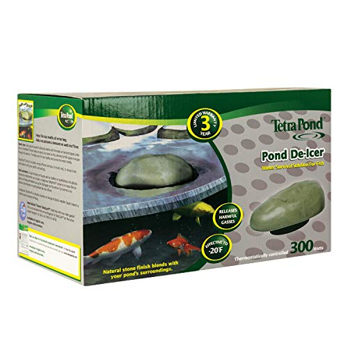 (TetraPond Pond De-icer, Thermostatically Controlled, 300-Watts)