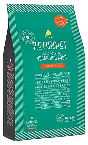 KetunPet Vegan Dog Food - ADULT - 6.6 and 22 lbs (Small 6.6 Lbs)