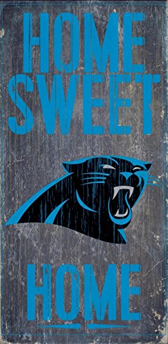 Fan Creations - Carolina Panthers Wood Sign - Home Sweet Home 6