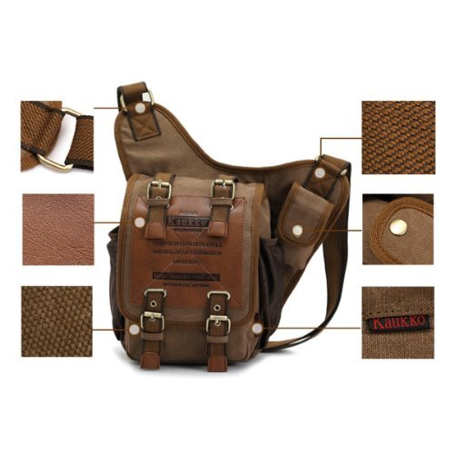 hombre Vintage escuela mensajero de hombro Militar Para lienzo Boys de bolsas bolsa aqPxdaZ