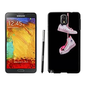 Beautiful Unique Designed Samsung Galaxy Note 3 N900A N900V N900P N900T Phone Case With Hanging Converse White Pink_Black Phone Case