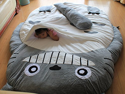 Simle teech Totoro bed Totoro sleeping bag small size student size (1.95m x 1.3m)