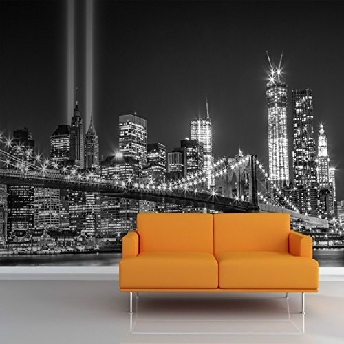 Lwcx 3D Wallpaper For Wall 3D Mural Greyscale Trade Centre Wall Mural Photo Wallpaper Famous City Building Backdrop For Living Room 400X280CM (Solar Sun The Stone Center Of)