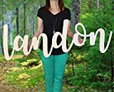 Custom Personalized Wooden Name Sign 12-55' WIDE - LANDON Font Letters Baby Name Plaque PAINTED nursery name nursery decor wooden wall art, above a crib