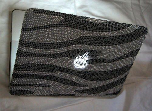 Zebra Style Diamante Bling Cover Macbook Pro 13.3,swarovski Bling Style Diamond Bling Diamante Case for 13.3-inch Macbook Pro 2010,2011,2012,2013 Models