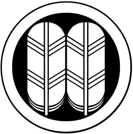 家紋シール 「丸に鷹の羽」6枚入 男性紋・女性紋・子供サイズ・黒地用・白地用 貼付け家紋 着物用 KOM174