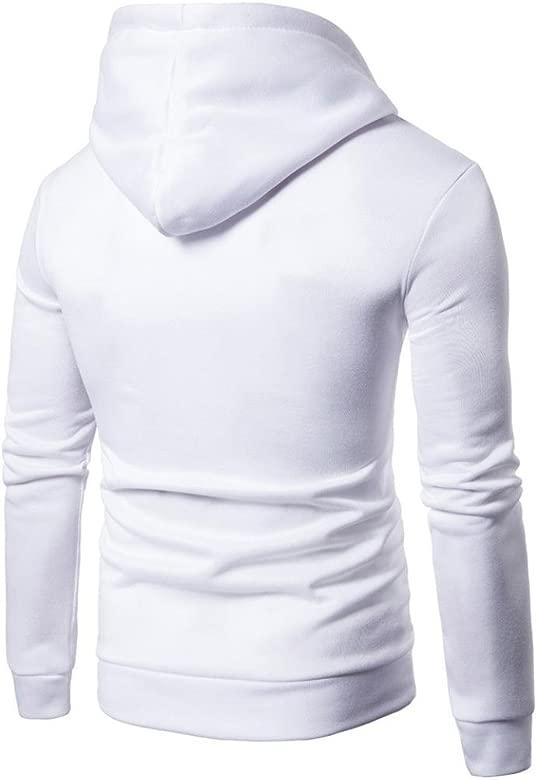 Sudadera Hombre, Xinan Camiseta de Manga Larga con Mangas largas para Hombres Blusa Sudadera con Capucha Estampada