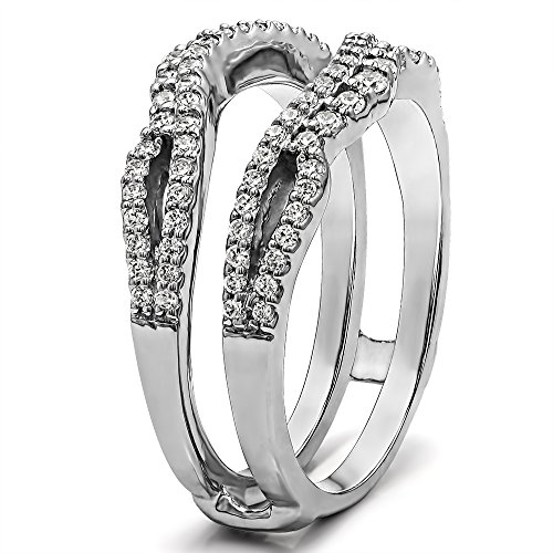 sterling silver infinity wedding ring guard