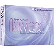 Top-Flite Flawless Pearlescent White Golf Balls - 12 Count Designed for Women's Swing Speeds