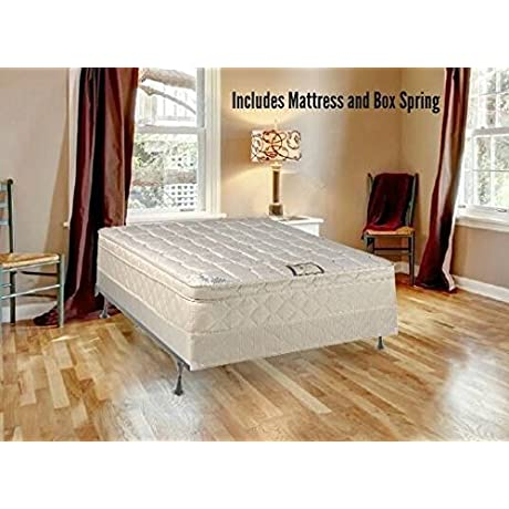 Continental Sleep Fully Assembled Orthopedic Pillow Top Mattress And 8 Split Box Spring With Bed Frame Queen