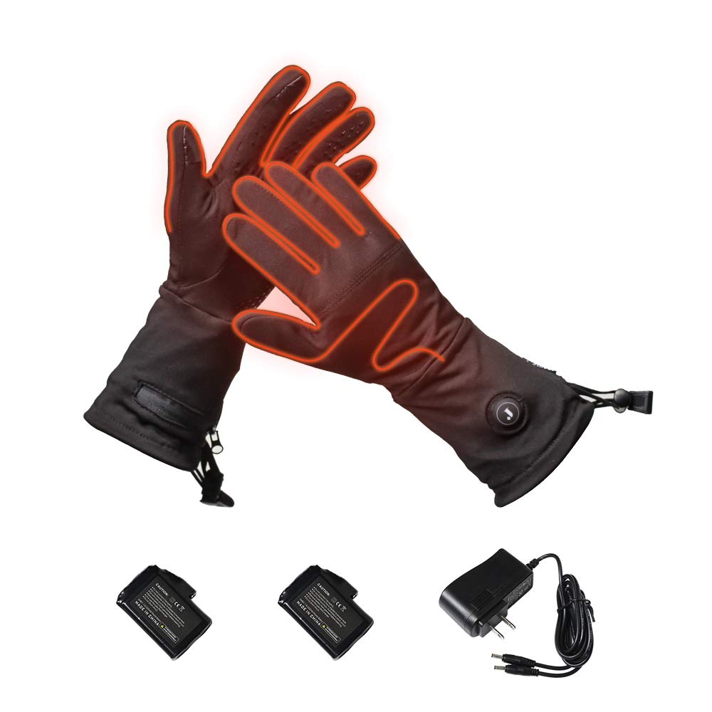 J-Jinpei Heated Gloves for Men and Women Electric Rechargeable Gloves,Heated Thin Section Liners Glove and Lithium Battery 7.4V 2200mAh,Non-Slip Touch Screen Gloves Arthritis Winter Warm Gloves,M by J-Jinpei