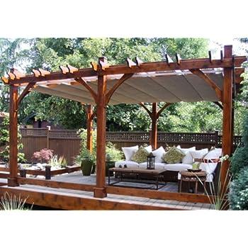 12x20 Breeze Cedar Pergola   With Retractable Canopy