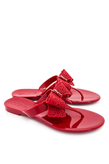 a6b56f396cdb Amazon.com  Salvatore Ferragamo Women s Pandy Jelly Thong Sandals ...