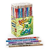 Way To Go! 150-Piece Pencil Assortment Collection- Includes Motivational Messages to Boost Students' Confidence