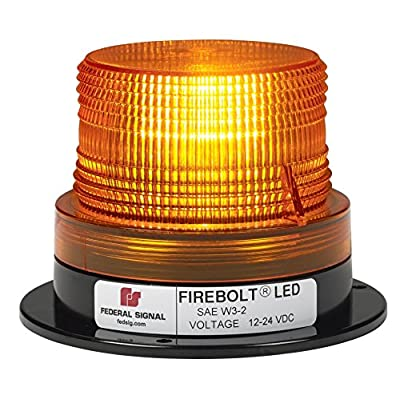 Federal Signal 220260-02 Firebolt LED Beacon, Class 2, Magnet Mount with Cigarette Plug and Amber Dome: Automotive