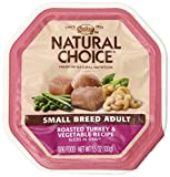 Nutro 791713 Natural Choice Small Breed Dog Turkey/Veggie Entree, 3.5-Ounce, Case Of 24