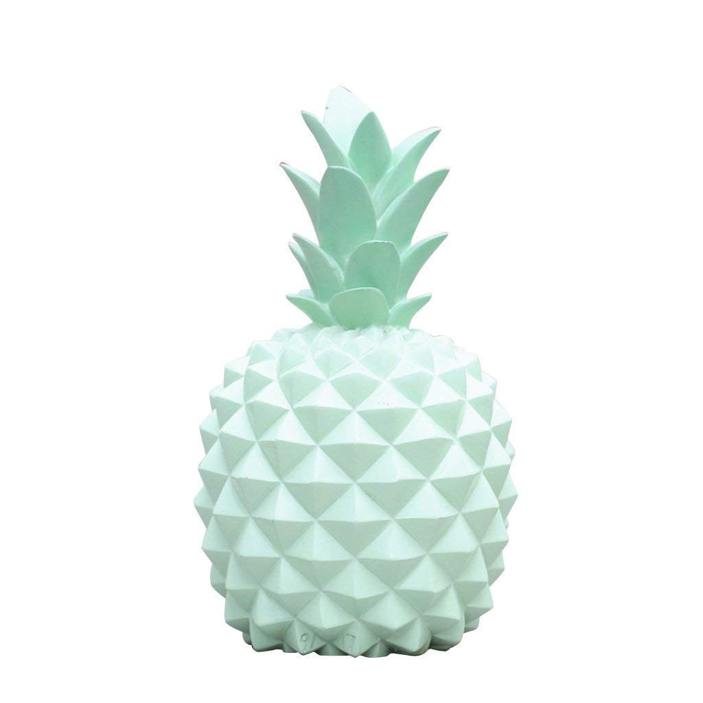 LanDream Novelty Candy Color Pineapple Coin Piggy Bank Boxes Money Boxes Ornaments (Green) by LanDream