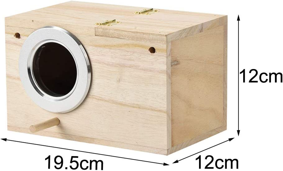 Thinktoo Wooden DOX Easter Gifts , Parakeet Ne st Box Bird House Wood Breeding Box for Lovebirds Parrotlets Mating Arts Crafts Sewing Decorations Accessories