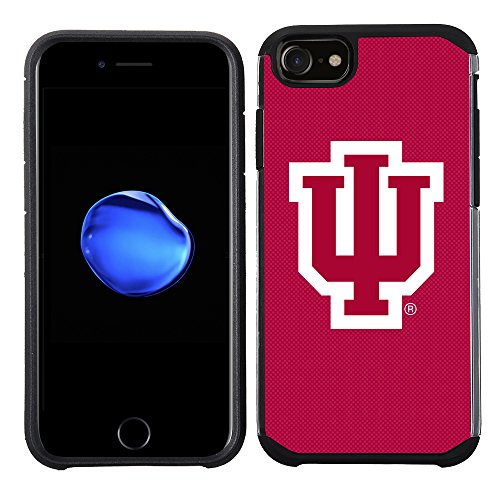 Prime Brands Group Textured Team Color Cell Phone Case for Apple iPhone 8/7/6S/6 - NCAA Licensed Indiana University Hoosiers]()