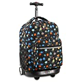 J World New York Sunrise Rolling Backpack, Party Mobs