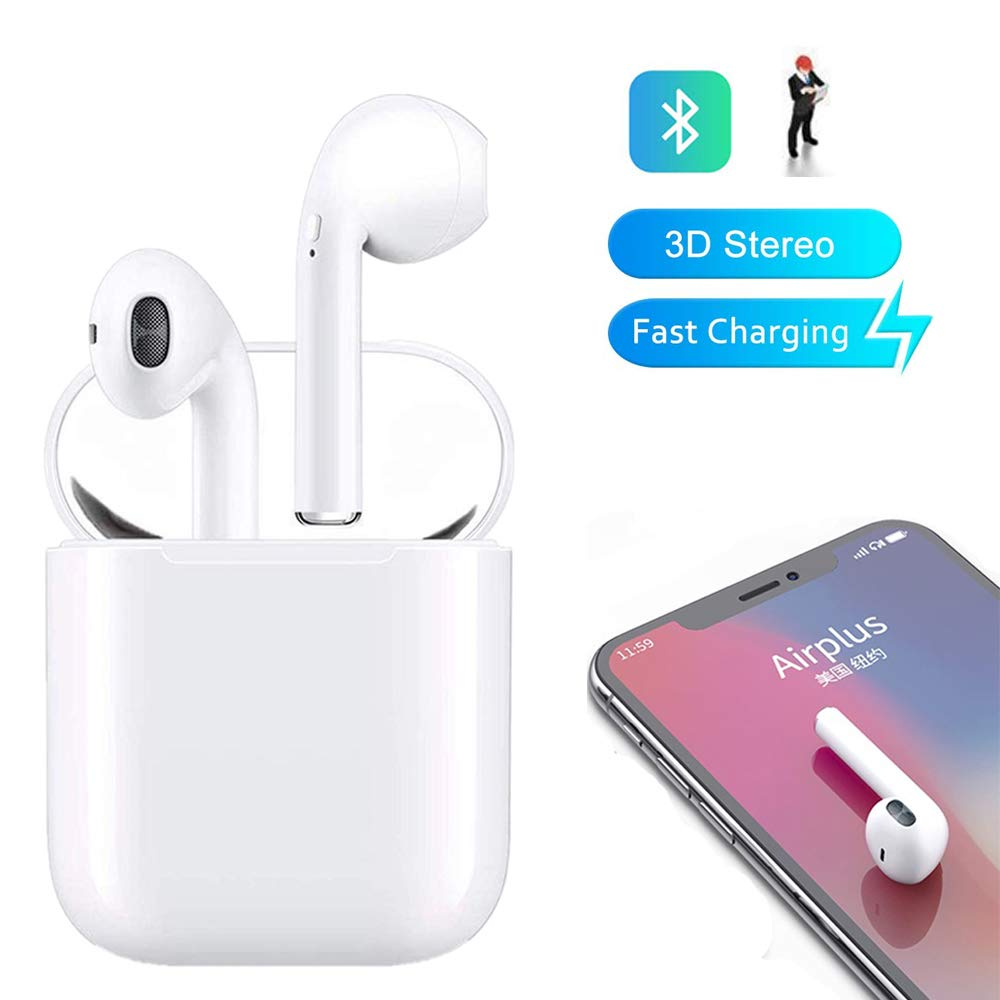 Bluetooth Headset,Wireless Sports HiFi Headset in-Ear Headphone Noise Reduction Headset,Sweat-proof Bluetooth Headphones with Mic for Apple Airpods Android iPhone I8XTWS