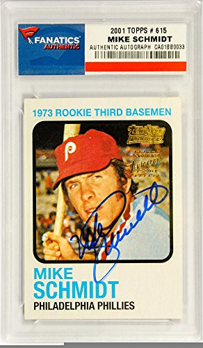 Autographed Baseball Pack (Mike Schmidt Philadelphia Phillies Autographed 2001 Topps #615 Card - Pack Pulled - Fanatics Authentic Certified)