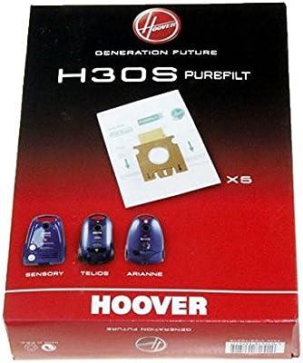 H30s antibacteriana (5)-Bolsa para aspirador hoover t5521/6011 ...