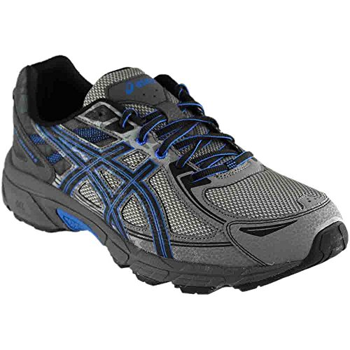 ASICS Men's Gel-Venture 6 Running Shoe, Aluminum/Black/Directoire Blue, 9 Medium - 9 Outlet