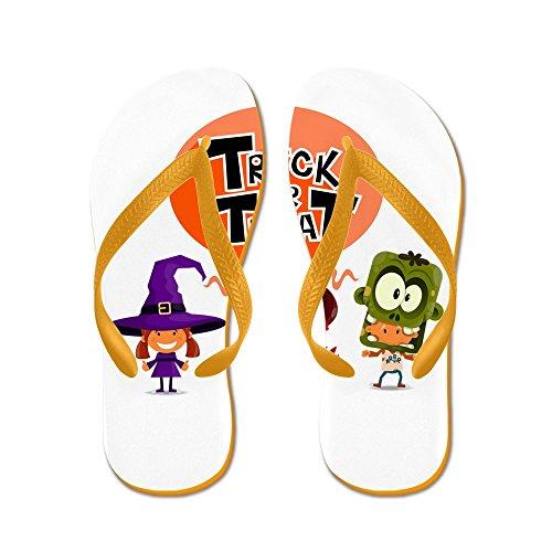 Royal Lion Men's Halloween Trick or Treat Kids Orange Rubber Flip Flops Sandals 6-7.5]()
