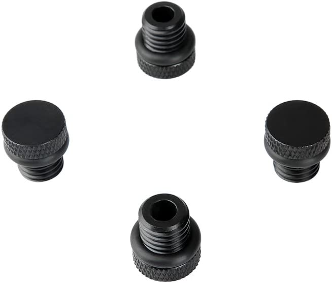 Pack of 4 NICEYRIG M12 Rod Cap Stopper Screw 12mm Thread for 15mm Rod Clamp Support Rig