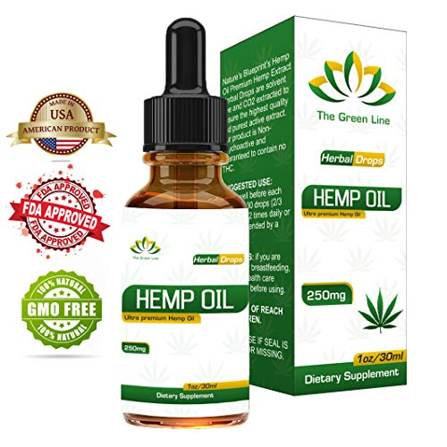 Organic Hemp Seed Oil Drops, 100% Pure Herbal Premium Quality, Dietary Supplement Relief for Pain, Stress, Anxiety and Sleep Deprivation, Promotes Relaxation & General Good Health, Anti-Bacterial
