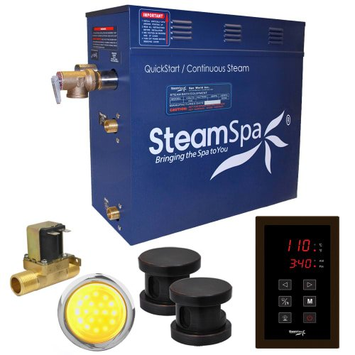 Generator Package - Steam Spa INT1200OB-A Indulgence 12 KW Quick Start Acu-Steam Bath Generator Package with Built-In Auto Drain, Oil Rubbed Bronze
