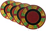 Certified International Caliente 10-3/4-Inch Dinner Plate, Assorted Designs, Set of 4