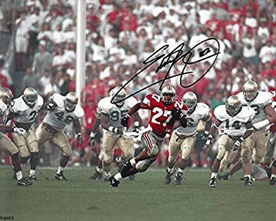 Eddie George Autographed Ohio State Buckeyes 8x10 Photograph - Catch Me - Certified Authentic - Autographed Photos