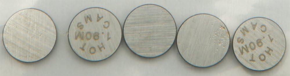 46241 : Pastillas De Reglaje /Ø7,48 X 1,9 Mm HOT CAMS Set 5Pcs