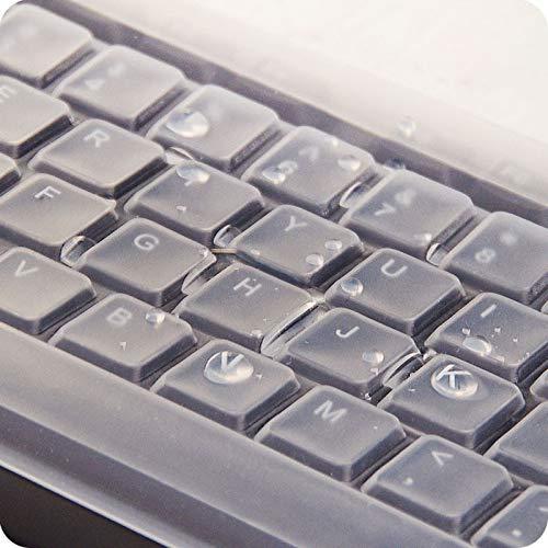 Ba Zha Hei Universal Funda Protectora de Teclado para computadora de Escritorio Silicona Ultradelgada Tamaño: 44.5 * 14CM Cubierta del Teclado Keyboard ...