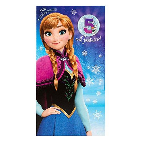5th Birthday Card (Hallmark Disney Frozen Anna 5th Birthday Card Time For Adventure - Medium Slim)