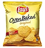 Baked Lay's Oven Baked Lay's Potato Crisps, Original, 0.875 Ounce (Pack of 60)